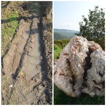 A umidade do solo e o riolito.