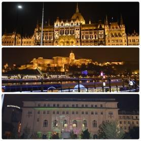 Budapeste à noite. Haja festa.