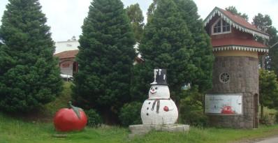 Boneco de neve em São Joaquim. Há 2 anos ele está sozinho nessa...