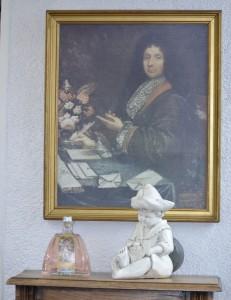Pintura retrato de Napoleão na perfumaria Galimard.